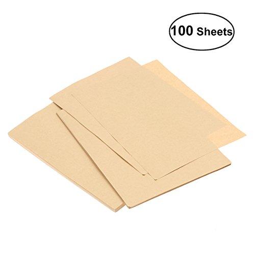 NUOLUX Papel de Kraft A5, 100 hojas, papel en blanco de Kraft Papelería Cajas de tarjetas retro vintage para oficina en el hogar inmóvil