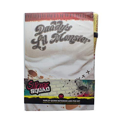 Paladone 5055964727451 Suicide Squad Set Notizbuch mit Stift Baseballschläger 2-teilig, Hardcover, gebunden, liniert, mit Leseband