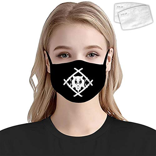 YONYI Xa-Vier W-ULF Anime Logo Face Mask with 2pcs Filters Earloop Outdoors Anti-Dust Cover Sun-Protective for Men/Women