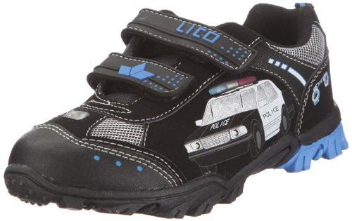 Lico Chief V Blinky Sneaker Unisex Kinder, Schwarz/ Royalblau/ Silber, 24 EU