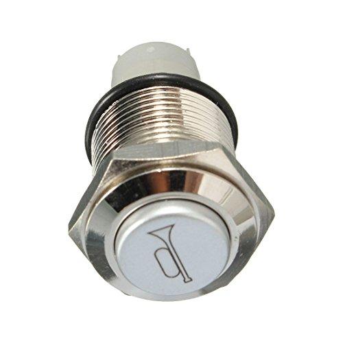 Gesh Interruptor de metal para coche, 12 V, 16 mm, color azul