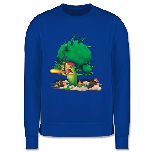 Shirtracer Up to Date Kind - Brokkoli Monster - 128 (7/8 Jahre) - Navy Blau - JH030K_Kinder_Pullover - JH030K - Kinder Pullover
