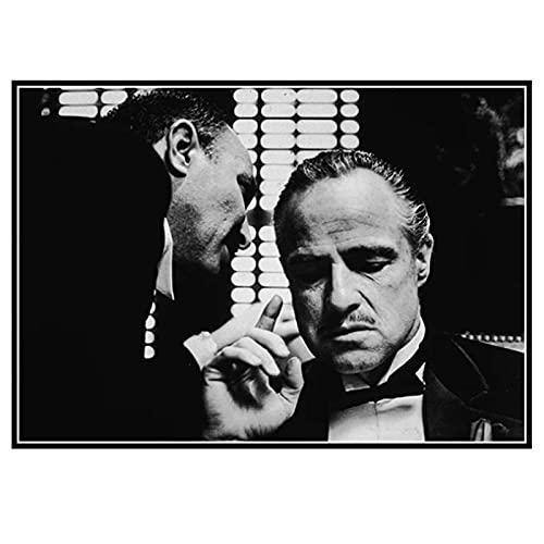 DOAQTE Arlon Brando ojciec chrzestny płótno obraz ścienny plakat dekoracja pokoju na płótnie wydruki na ścianę obraz do dekoracji -20X32 Cal bez ramki 1 sztuk