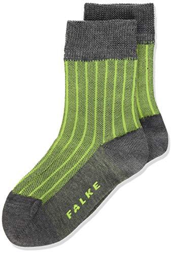 FALKE Jungen Oxford Socken, grau (Steel Mel. 3165), 31-34