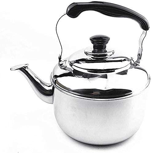 Cocina Thicken Gas Home Inalámbrico Acero Inoxidable Ligero Silbido con Boquilla Retro para encimera o Estufa