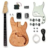 BexGears DIY Electric Guitar Kits For bass Guitar,Okoume Body maple neck & composite ebony fingerboard