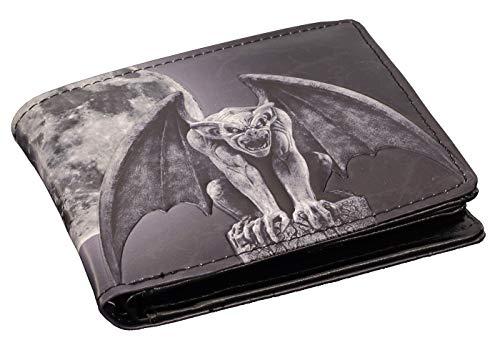 Herren Geldbörse mit Gargoyle-Motiv | Fantasy Gothic Geldbeutel Portemonnaie Mann Drache