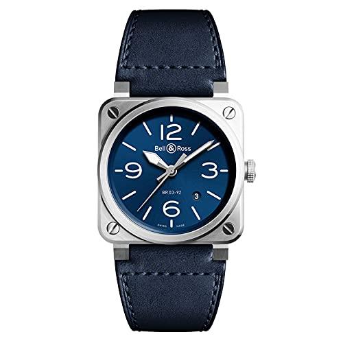 Bell & Ross Instruments BR0392-BLU-ST/SCA Reloj de hombre de acero azul
