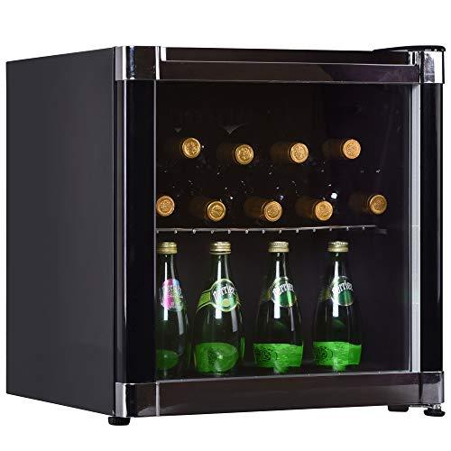 Syntrox Germany Getränkekühlschrank, Mini-Kühlschrank mit Glastür, leise, 42 dB, 43 Liter, Energieklasse A+