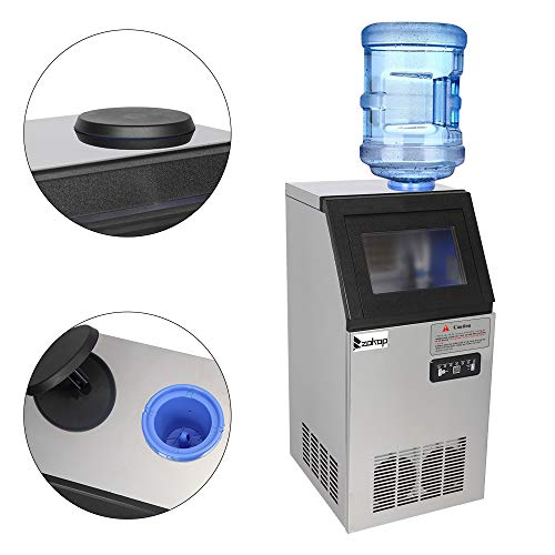 Great Deal! Commercial Ice Machines.American Standard Stainless Steel Transparent Cover.495W 50KG/68...