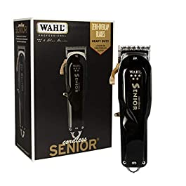Wahl Professional – 5 Star Series Cordless Senior Clipper with Adjustable Blade, Lithium Ion Battery with 70 Minute Run Time for Professional Barbers and Stylists – Model 8504-400