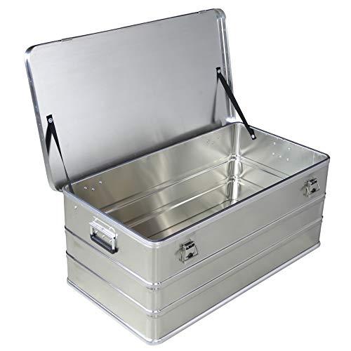 Caja de aluminio de 140 litros de capacidad, caja de almacenamiento, caja de metal, caja de almacenamiento, caja industrial, caja de aluminio