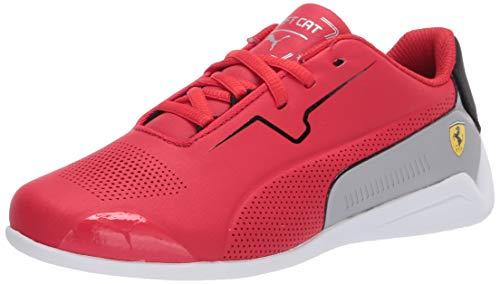 PUMA Unisex Flyer Runner Velcro Sneaker, Black White-Castlerock-Bright Rose, 1.5 M US Little Kid