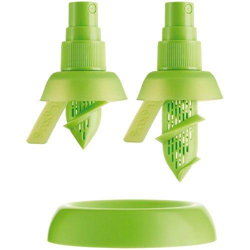 Lékué Exprimidor, Silicona, Verde, 2 unidades