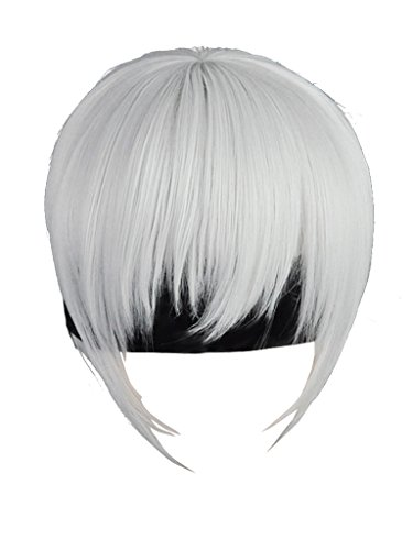 Cosfun Nier:Automata Yorha 9S Cosplay Wig mp003638 White