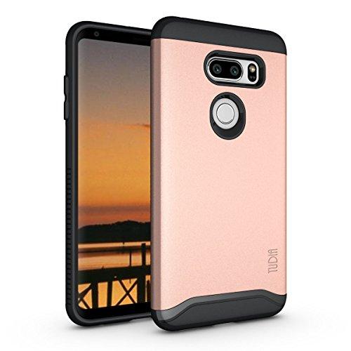 LG V35 ThinQ Hülle, TUDIA Slim-Fit Merge Dual Layer Schutzhülle für LG V35 ThinQ (Rose Gold)