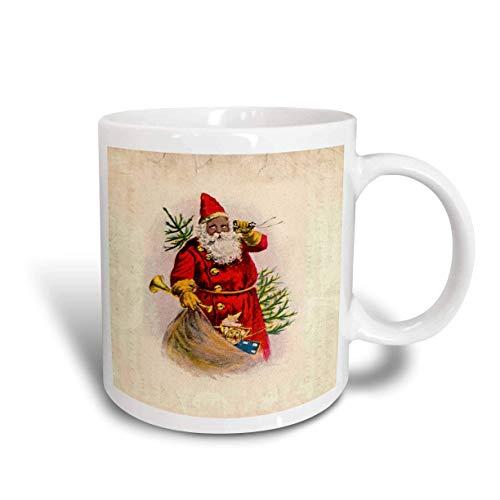Mug_62169_1'Illustration of African American Santa Claus' - Taza de cerámica, multicolor