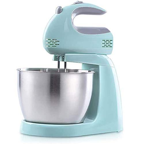 Elektrische mixer, handklopper, statiefgarde, 150 W, 3 liter, 5 snelheden, met 2 kloppers, 2 deeghaken, voor het bakken van eieren in de keuken