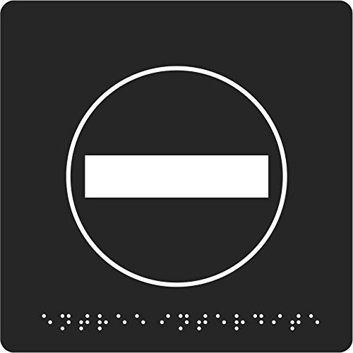 Pavo 8055999 Türschild Kein Durchgang mit Blindenschrift, 150 x 150 x 2 mm