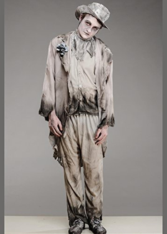 MagicBox Mens Halloween Ghost Zombie Groom Costume Medium (3740  Chest)