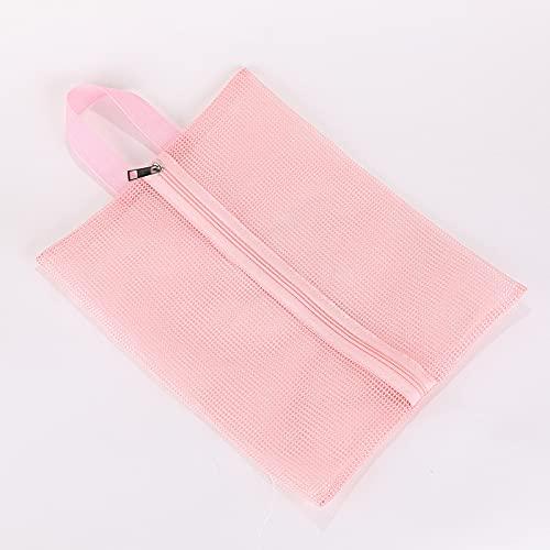 LZYMLG - Borsa portatile per doccia, in rete, ideale per il bagno, colore: Rosa