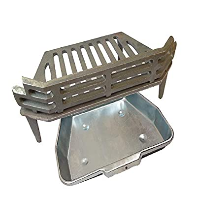 "WW/Victorian Fire Grate, Ash Pan for 16"" Fireplace Opening"