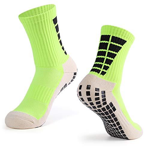 Explopur Calcetines Antideslizantes de fútbol para Hombre Calcetines Deportivos de Tubo Alto de fútbol
