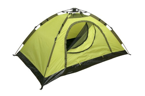 Yellowstone Zelt für 2 Personen, kann schnell aufgebaut Werden, Grün, 210x140x95cm