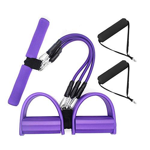 Bandas de resistencia con pedal, cuerda de tensión multifunción, cinturón de ejercicios para abdominales, ejercitador de ejercicios con pedal para Pilates, fitness, yoga y otros entrenamientos