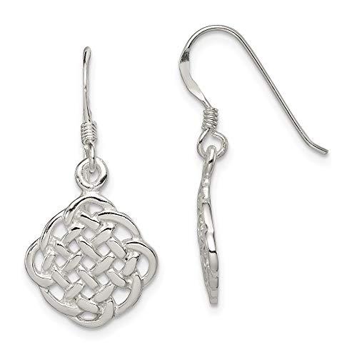 925 Sterling Silver Irish Claddagh Celtic Knot Drop Dangle Chandelier Earrings Fine Jewelry For Women Gifts For Her