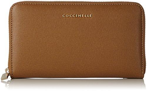 Coccinelle Metallic Saffiano - Portafogli Donna, Braun (Cuir), 1x10x18 cm (B x H T)
