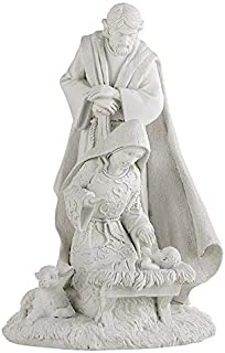 Avalon Gallery Holy Family Nativity White 8 Inch Statue