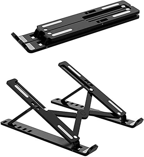 MORANGO Soporte para Tablet Plegable. Elevador Plegable para iPad, Movil, Libro, eBook. 7 Ángulos Ajustables. (Black)
