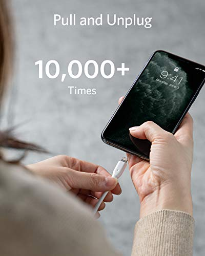 Anker [3-Pack] PowerLine 0.9m Lightning Kabel Apple iPhone iPad Ladekabel mit lebenslange Garantie für iPhone XS/ XS Max/ XR/ X/ 8/ 8 Plus/ 7/ 7 Plus/ 6s/ 6/ 6 Plus/ 5S/ 5/ iPad und weitere(Weiß)