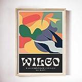 ZLARGEW Wilco Gig Poster Klassische Wandkunst Vintage Bunte