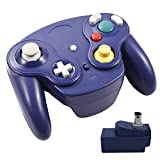Veanic 2.4G Wireless Gamecube Controller Gamepad Gaming Joystick with Receiver for Nintendo Gamecube,Compatible with Wii
