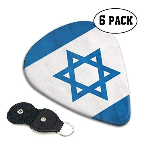 Vlag van Israël 351 Vorm Klassieke Celluloid Gitaar Picks voor uw elektrische, akoestische, Mandoline, Bas en Ukulele Gitaar .71mm 6-Pack