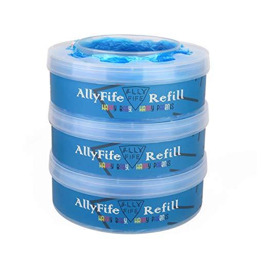 AllyFife - Recambio de papelera compatible con Tommee Tippee Sangenic Tec y Twist & Click (3 unidades)