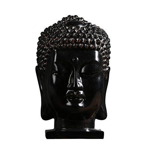 MYZF Dekoartikel Tierstatuen Gartenfiguren Statuen Dekoartikel & Figur Skulpturen Figuren Kreativer Buddhistischer Kopf Neues Chinesisches Zen Buddha Wohnzimmer Veranda Stadthaus Handwerk Thai We