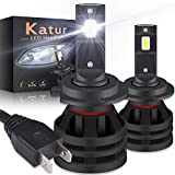 KATUR H7 Led Headlight Bulbs Mini Design Upgraded CREE Chips Extremely Bright 12000