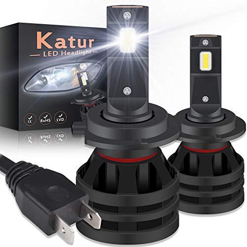 KATUR H7 Led Bombillas para Faros Delanteros Diseño Mini Chips de CREE mejorados 12000 LM Kit de conversión LED Todo en uno a Prueba de Agua 55W 6500K Xenon Blanco-2 años de garantía
