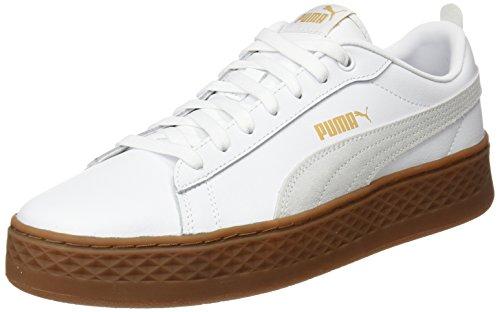 Puma Smash Platform L, Scarpe da Ginnastica Basse Donna, Bianco White, 41 EU