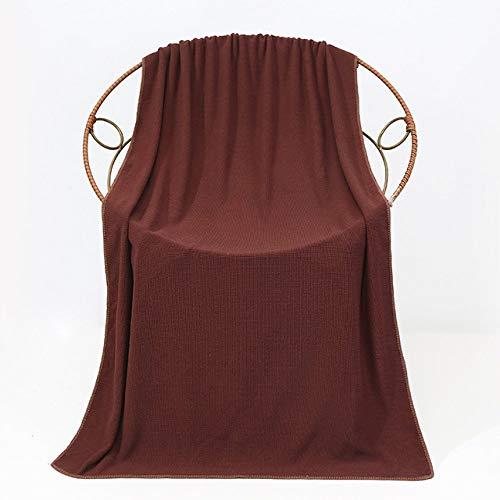 WLQCPD Handdoek,Vezel badhanddoek 70 * 140 dik zacht absorberend groot badhanddoek sneldrogend gezond thuis cadeau badhanddoek, chocolade, 70x140cm