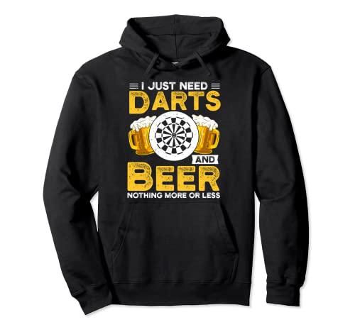 Sólo necesito dardos y cerveza Darting Sudadera con Capucha