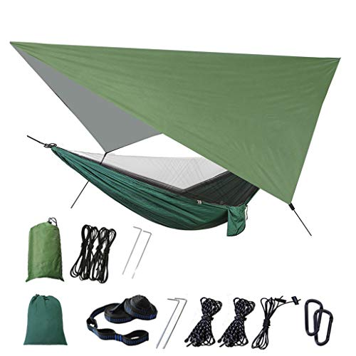 Akaslife Upgraded Camping Hammock - with Mosquito Net Outdoor Tent Hammock Set Removable Anti Mosquito Net for Indoor, Outdoor, Hiking, Camping, Backpacking, Travel, Backyard, Beach
