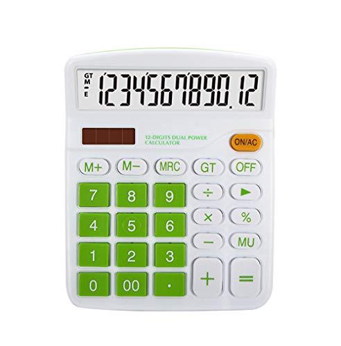Meichoon Grande Calculadoras Sobremesa Básicas Oficina Dual Power Pantalla de 12 Dígitos Batería Solar Financiera Dedicada...