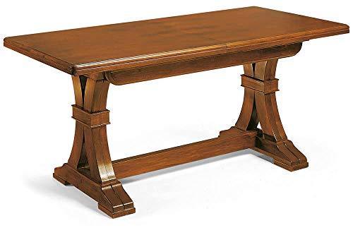 Milani Home s.r.l.s. Tavolo da Pranzo Allungabile Rettangolare Tinta Noce 180/360 X 100 per Interno Sala da Pranzo Cucina Arte Povera