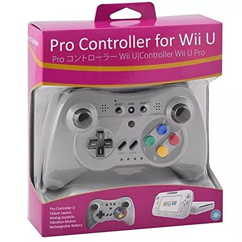 Controle Sem Fio Nintendo Wii U Pro Turbo Bluetooth Cinza