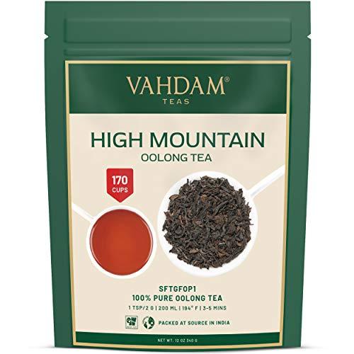 High Mountain Oolong Teeblätter aus dem Himalaya (150 Tassen), 100% NATÜRLICH, Hand gepflückt auf den hochgelegenen Darjeeling Plantagen, oolong tee lose zum Abnehmen,VAKUUMVERPACKT, 340gm