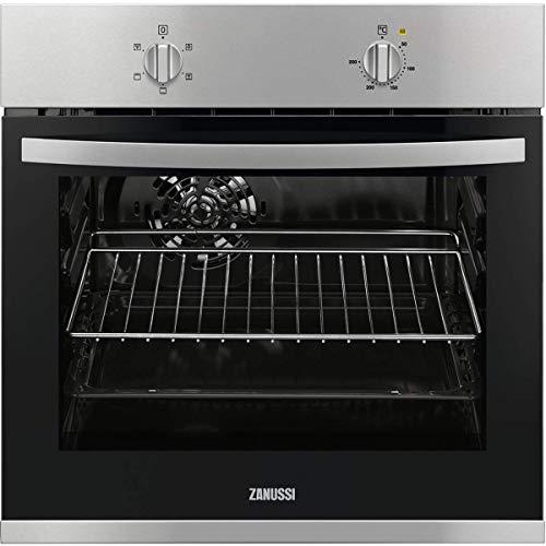Zanussi ZOB20311XU - Horno (Medio, Horno eléctrico, 53 L, 53 L, Negro, Acero inoxidable, Giratorio)